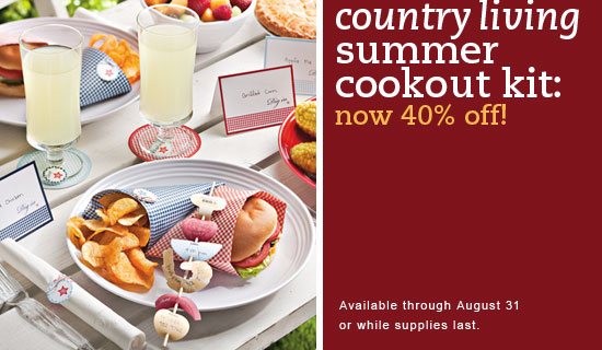 Country cook out kit on sale