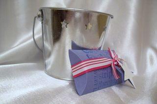 Brocade blue patriotic favor