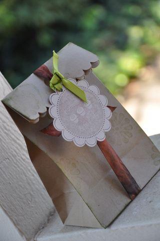Wrinkle ribbon bag