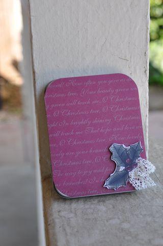 Outside red gift card holder