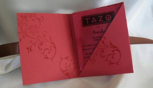 Elements of Style tea bag holder inside