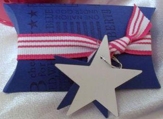 Brilliant Blue Patriotic up close