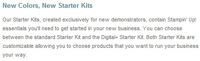 New starter kit descriptors