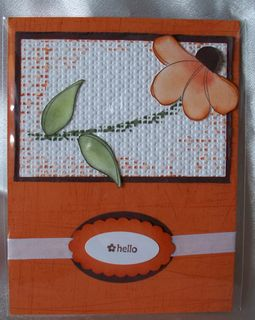 Awash with flowers card