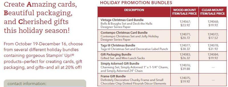 Handmade holiday bundles