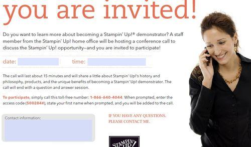 Demo opportunty call invitation