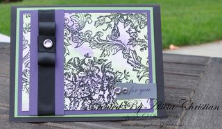 Watercolor card bella toile