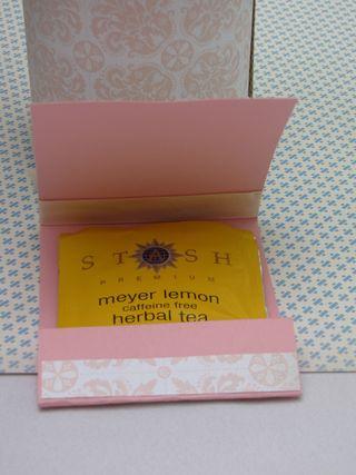 tea bag baby shower favor inside