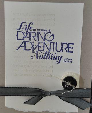 Daring adventure quote