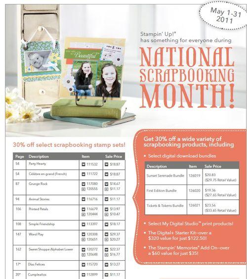 National scrapbook month flyer