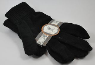 black halloween gloves