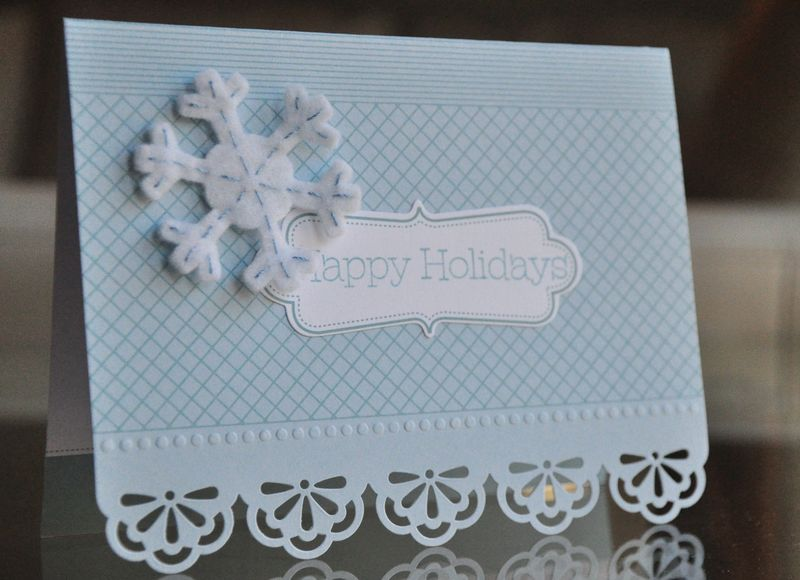 Everyday Elegance snowflake card