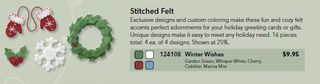 Stitched felt