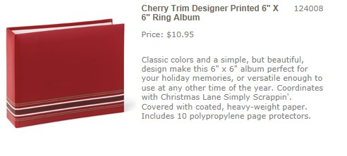 Cherry Trim Designer Printed Album