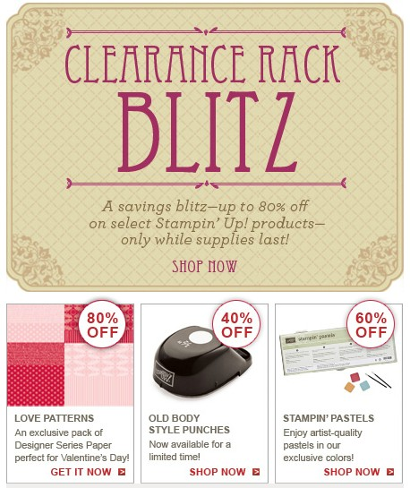 Stampin' Up! Clearance Rack Blitz