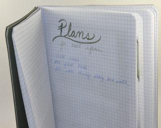 My garden journal plans page