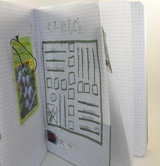 My garden journal plot sketch