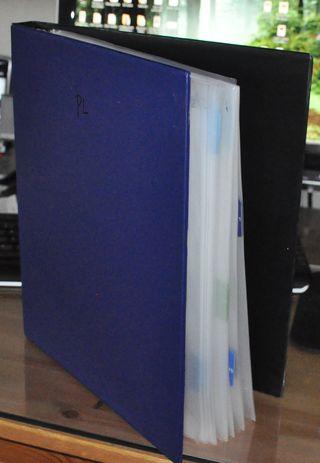 PL binder side view