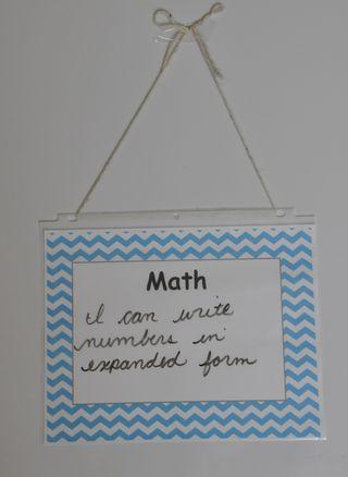 Hanging white board