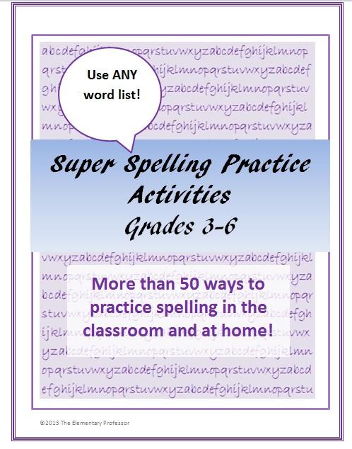 Upper grade spelling cover