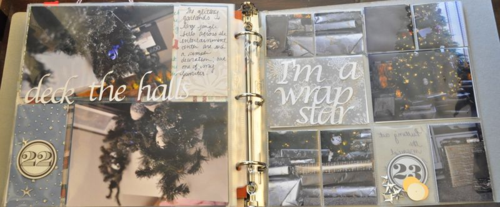 December Daily 2013 days 22 23 two page spread