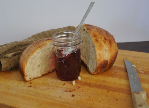 Wrangler star bread with jam