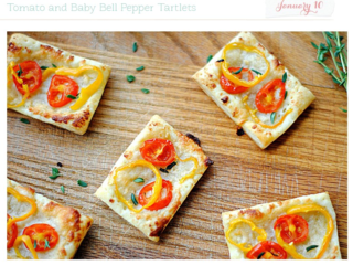 Tomato and baby bell pepper tartlets