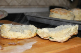 Steaming biscuit