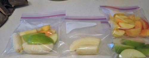 Put in freezer bags