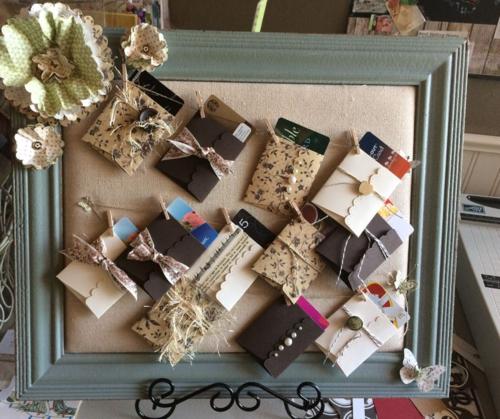 gift card frame